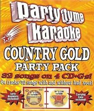 Party Tyme Karaoke: Country Gold Party Pack by Sybersound (CD, Jul-2006, 4...