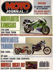 MOTO JOURNAL  955 Essai Test DUCATI 907 SUZUKI RM 125 250 KAWASAKI KLE 500 ZXR