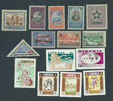Liberia Postage stamps early collection from 1920.Mint LH