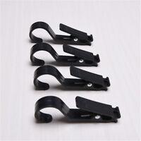 4 pcs Heavy Duty Clothes Pegs Black Plastic Hanging Clips Hook Hangers Laundry