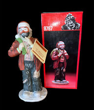 "Flambro Porcelain Emmett Kelly, Jr. Signature Collection, #9767, 8¼"" H, Santa"