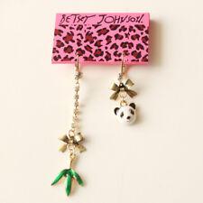 New Betsey Johnson Bamboo Panda Drop Earrings Gift Fashion Women Party Jewelry