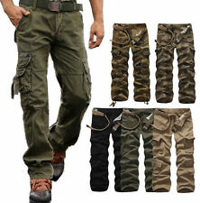Herren Cargohose Army Frachtschlauch Raw Cargo Pants Hose Camouflage GR.32-40