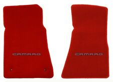 NEW! Red FLOOR MATS 2010-2015 Camaro Embroidered Logo in Red 2 pc Front Set