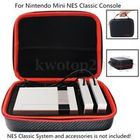 Protable Carbon Fiber Storage Case Bag For Nintendo Mini NES Classic Console