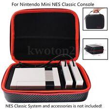 Protable Carbon Fiber Storage Case Bag For Nintendo Mini NES Classic Console