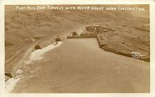 c1933 Rppc; Fort Peck Dam Tunnels w Power House under Construction Mt 420 Coles