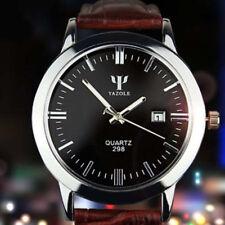 New Fashion Men Date Leather Stainless Steel Army Quartz Waterproof Wrist Watch