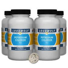 Potassium Chloride 2 Pounds 4 Bottles 99 Pure Food Grade Fine Powder
