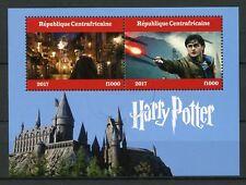 República Centroafricana 2017 CTO Harry Potter 2 V M/S II hogwarths Castillo sellos