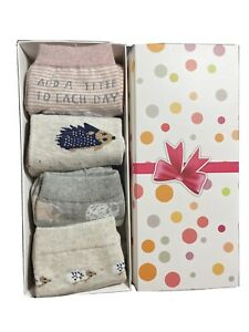 Women Cute Animal Print Cotton Socks (4pairs)