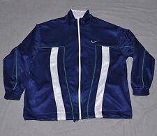 Original 90s NIKE BASKETBALL Full Zip Jacket Men's 2XL XXL Blue Green White vtg