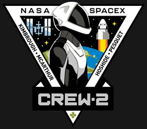 Human Space Flights SpaceX Crew-2 Dragon Endeavour USA Iron On Embroidered Patch