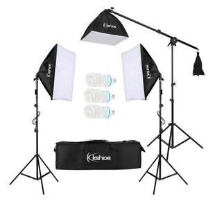 3x Profi Fotostudio Set Studioleuchte Studioset Softbox Galgenstativ mit Tasche