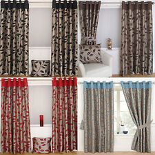 Polyester Floral Eyelet Top Curtains