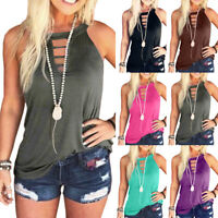 Womens Blouse Hollow Holiday Shirt Ladies CAMI Vest Tee Sweatshirt Summer Tops