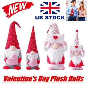 2021 Valentines Day Tomte Gnome Decorations Swedish Gnome Plush Dolls Handmade💕