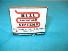 Vtg 1950 HULL HEATING SYSTEMS CALIF Advertising Carlson Disston Measuring Tape
