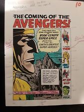 Avengers #1 (Marvel Masterworks) Original Color Guides to Entire 22 Page Story