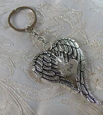 Memorial Angel Wing Dad Bag Charm/Keyring/Keychain Made with Swarovski Crystal
