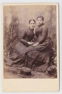 Sisters in black Cabinet portrait photo by Nixon Kapunda South Australia  c1900
