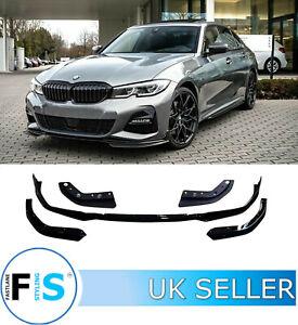 BMW 3 SERIES G20 G21 5 Pcs M PERFORMANCE FRONT SPLITTER LIP SPOILER GLOSS BLACK