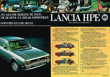 PUBLICITE  1978   LANCIA  HPE    berline de race (2 pages)