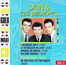 DION & THE BELMONTS : CASTLE GOLD COLLECTION, VOL. 9 / 5 TRACK-CD