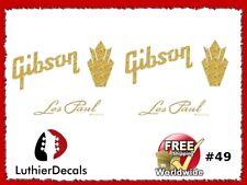 Gibson Guitar Headstock Decal Restoration Waterslide Logo 49