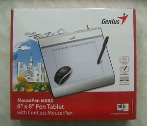 "Genius MousePen i608X Graphics Pen Tablet 6x8"" 150x200mm USB with Cordless Mouse"