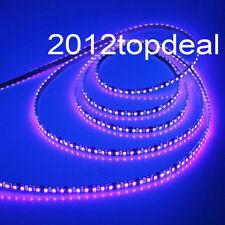 5M 3528 UV Ultraviolet 395nm 600 LED strip 120led/m SMD Light WP IP65 white PCB