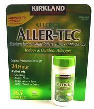 Allergy 24 Hour Cetirizine HCL 10 mg 365 Tablets Antihistamine Allergies