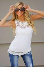 US Fashion Women Summer Vest Top Sleeveless Shirt Blouse Casual Tank Top T-Shirt