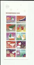 Nederland Kerst 2016 decemberzegels 10 vel - Albert Heijn - Kerstzegels postfris