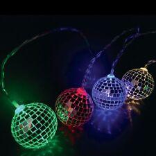 10 LED MIRROR DISCO BALL STRING PARTY FAIRY GARDEN DECORATION XMAS TREE LIGHTS