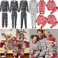 Xmas Christmas Family Matching Mens Womens Kids Baby Sleepwear Nightwear Pyjamas