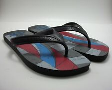Havaianas Mens Red Blue Gray Sandal Flip Flop with Windsurfer Design US Size 13
