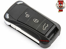 New PORSCHE  CAYENNE  REMOTE KEY FOB 3 BUTTONS FLIP SHELL CASE REPLACEMENT