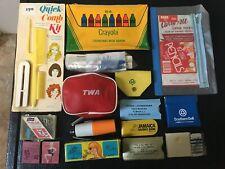 Vintage Advertising Lot Pouches Sewing Kits Rain Ponchos etc