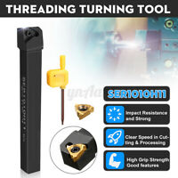 SER1010H11 Threading Turning Tool Holder With Wrench & 11 ER A60 Carbide Insert