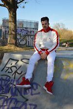 PUMA Jacke Trainingsjacke Freizeitjacke weiß rot TRUE VINTAGE 90s sport jacket