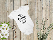 New to the Cousin Crew Bodysuit Personalized Baby Bodysuit, One piece