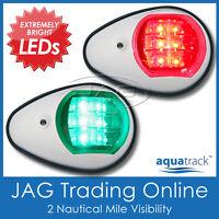 AQUATRACK LED NAVIGATION LIGHTS WHITE HOUSING-Port/Starboard Marine/Boat/Nav PW