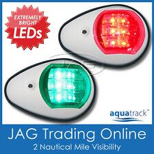 AQUATRACK LED NAVIGATION LIGHTS WHITE HOUSING-Port/Starboard Boat/Nav/Running PW