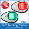 AQUATRACK LED NAVIGATION LIGHTS WHITE HOUSING-Port/Starboard Marine/Boat/Nav PW