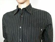 Dolce & Gabbana Men's Shirt White Black Striped Size 50 UK Meduim 15.5 - 42 D&G