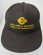 VTG Cullum & Brown Inc. Pumps Air Compressors Advertising Brown Trucker Hat A16