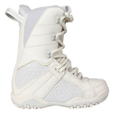 Youth Girls Womens LTD Classic Snowboard Leather Boots White Grey Size 5