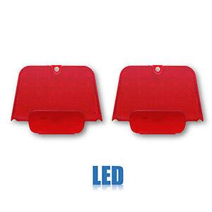 62 63 64 Chevrolet Chevy II Nova Red LED Tail Brake Running Light Lamp Lens PAIR