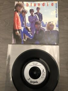 """Blondie """"Union City Blue"""" b/w """"Living In The Real World"""" 7"""" New Wave single"""